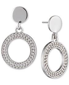 DKNY Textured Drop Hoop Earrings, Created for Macy's