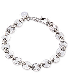 DKNY Silver-Tone Multi-Disc Link Bracelet, Created for Macy's