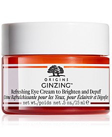 Ginzing Refreshing Eye Cream to Brighten and Depuff, 0.5-oz.