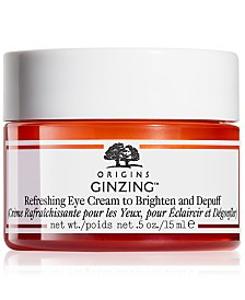 Origins GinZing Refreshing Eye Cream To Brighten and Depuff, 0.5 oz