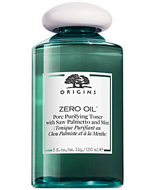 Origins Zero Oil Pore Purifying Toner with Saw Palmetto & Mint, 5 fl. oz