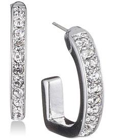 DKNY Pavé D-Hoop Earrings, Created for Macy's