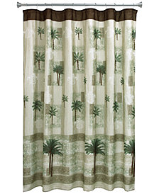 "Bacova Citrus 70"" x 72"" Palm-Print Shower Curtain"