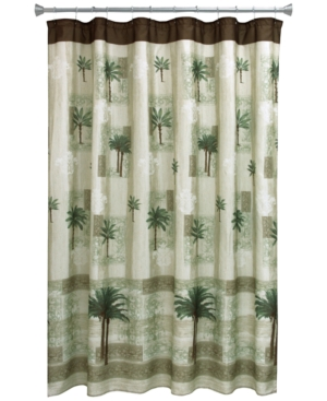 Bacova Citrus 70 x 72 PalmPrint Shower Curtain Bedding