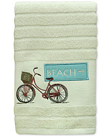 Bacova Beach Cruiser Cotton Embroidered Stripe-Jacquard Hand Towel