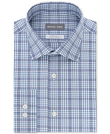 Michael Kors Men's Classic/Regular Fit Airsoft Stretch Performance Check Dress Shirt