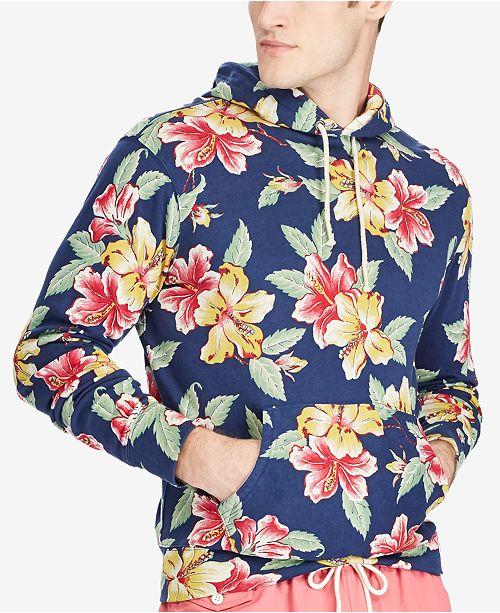 53b6f0d89b21cd Polo Ralph Lauren Men s Floral-Print Spa Terry Hoodie   Reviews ...