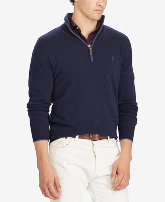 Polo Ralph Lauren Men's Half-Zip Cashmere Sweater