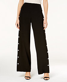Love Scarlett Petite Pearl Wide-Leg Pants, Created for Macy's