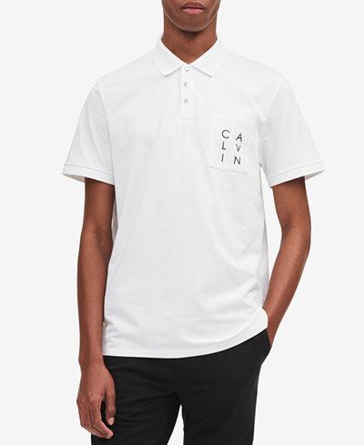 Calvin Klein Men's Logo Pocket Polo