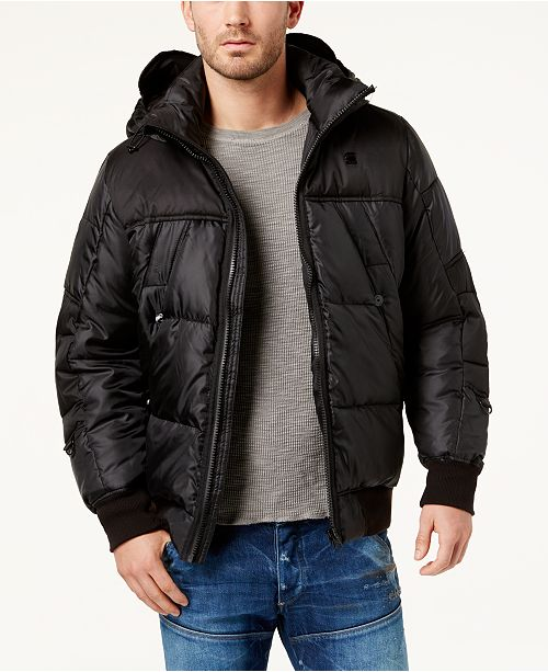 c95aaba02dd G-Star Raw Men's Whistler Quilted Full-Zip Bomber & Reviews - Coats ...
