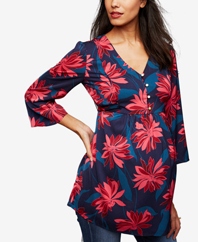 A Pea In The Pod Maternity Printed Babydoll Tunic