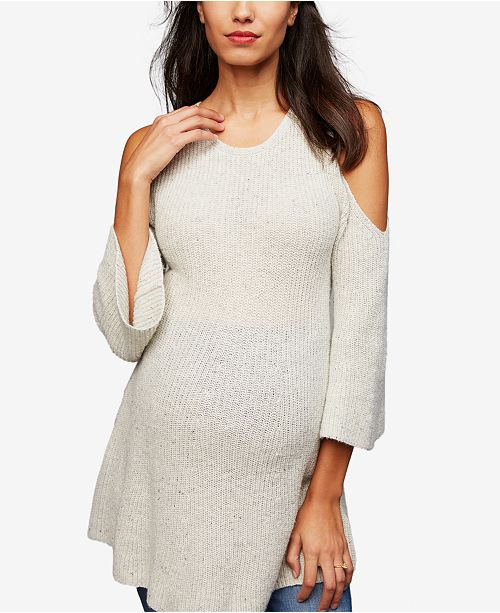 bd047b736f701d A Pea in the Pod Maternity Cold-Shoulder Sweater   Reviews ...
