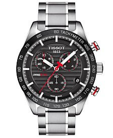 Tissot Men's Swiss Chronograph T-Sport PRS 516 Stainless Steel Bracelet Watch 42mm