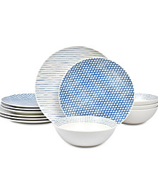 Noritake Blue Hammock Dinnerware 12-Pc. Set, Created for Macy's
