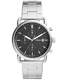 Fossil Men's Chronograph Commuter Stainless Steel Bracelet Watch 42mm