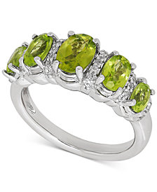 Peridot (2-1/3 ct. t.w.) & White Topaz (1/6 ct. t.w.) Ring in Sterling Silver