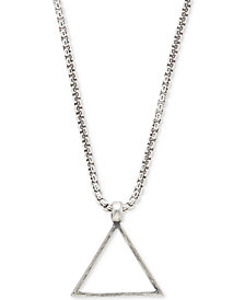 DEGS & SAL Men's Triangle Pendant Necklace in Sterling Silver