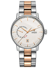 Rado Men's Swiss Automatic Coupole Classic Stainless Steel & Rose-Gold Tone PVD Bracelet Watch 41mm