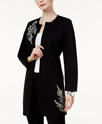 Alfani Embroidered Jacket, Created for Macy's
