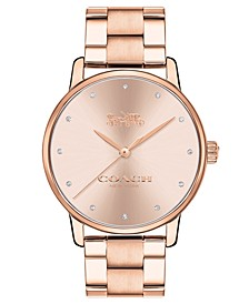 Women's Grand Rose Gold-Tone Stainless Steel Watch 36mm