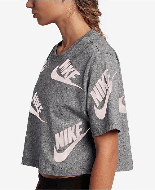 432b7b5da5d Nike Sportswear Futura Cotton Cropped Top & Reviews - Tops ...