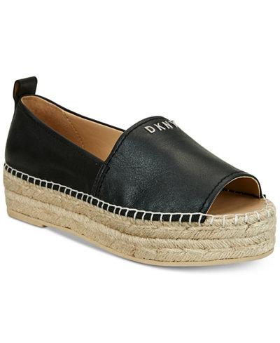 Dkny Mer Peep Toe Espadrille Sandals Created For Macy S