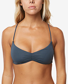 O'Neill Juniors' Cadence Strappy Racerback Bralette Bikini Top,Created for Macy's Style