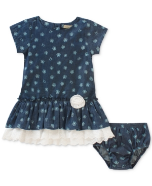 Calvin Klein FloralPrint Denim Dress Baby Girls (024 months)