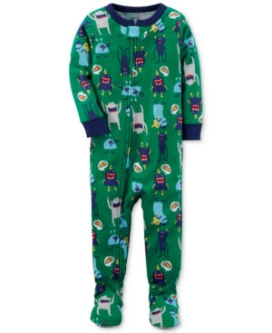 Carters 1Pc MonsterPrint Footed Pajamas Baby Boys (024 months)
