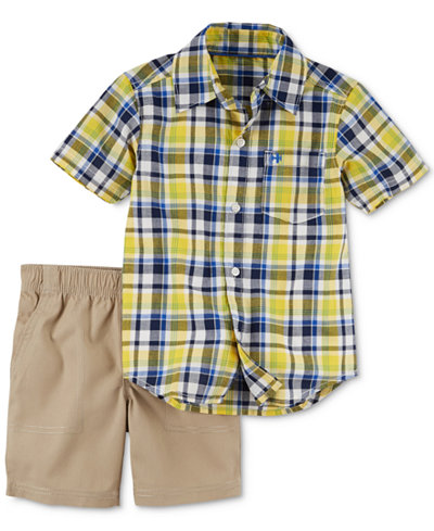 Carter's 2-Pc. Plaid Shirt & Shorts Set, Baby Boys