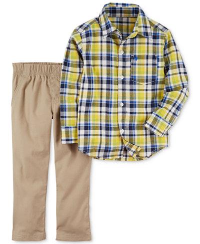 Carter's 2-Pc. Plaid Shirt & Pants Set, Baby Boys
