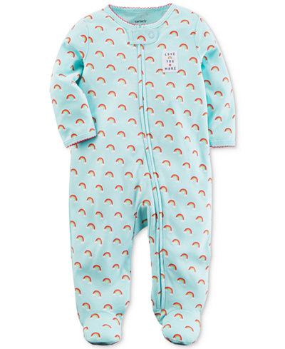 Carter's Rainbow-Print Footed Cotton Coverall, Baby Girls