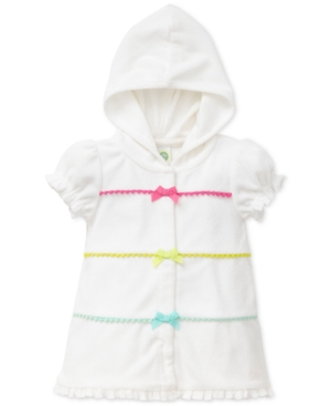 Little Me Hooded Bows Coverup Baby Girls (024 months)