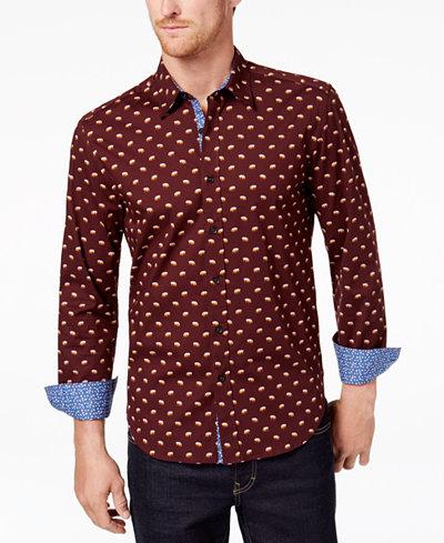 Con.Struct Men's Bear Print Shirt, Created for Macy's