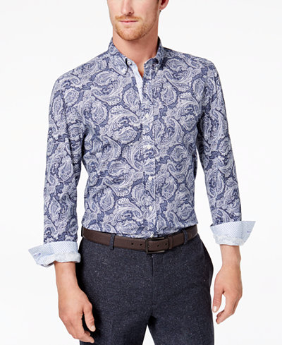 Con.Struct Men's Paisley-Print Shirt, Created for Macy's