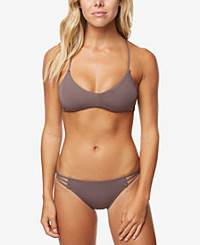 O'Neill Juniors' Salt Water Lace-Up Bikini Top & Strappy Cheeky Bottoms