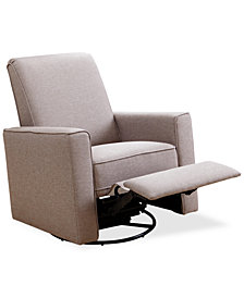 Tagert Nursery Swivel Recliner, Quick Ship
