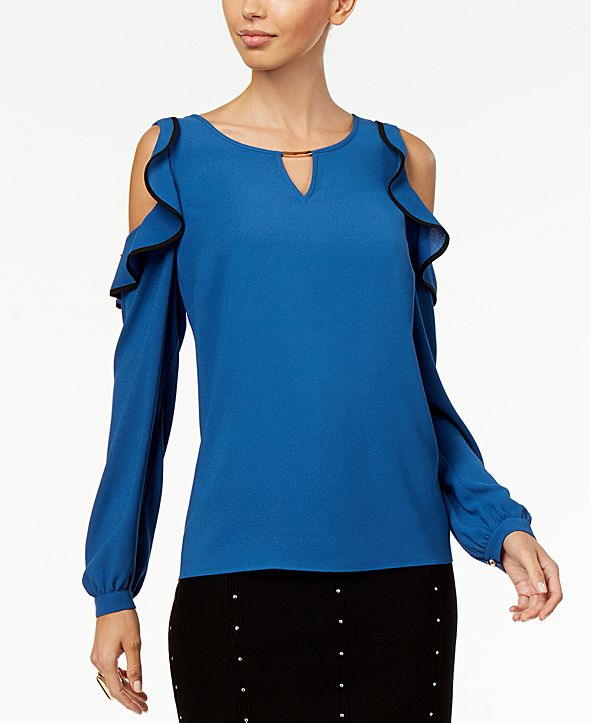 Thalia Sodi Ruffled Off-The-Shoulder Top, Created for Macy's