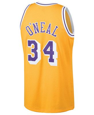 19b814bcb ... mitchell ness mens shaquille oneal los angeles lakers hardwood classic  swingman jersey