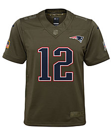 Nike Tom Brady New England Patriots Salute To Service Jersey, Big Boys (8-20)