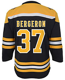 Authentic NHL Apparel Patrice Bergeron Boston Bruins Player Replica Jersey, Little Boys (4-7)