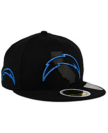 New Era Los Angeles Chargers State Flective Metallic 59FIFTY Fitted Cap