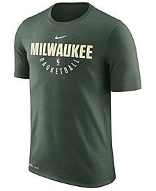 Nike Men's Milwaukee Bucks Dri-FIT Cotton Practice T-Shirt