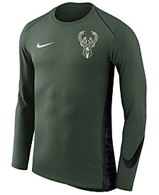 Nike Men's Milwaukee Bucks Hyperlite Shooter Long Sleeve T-Shirt