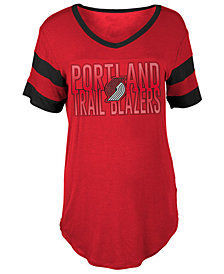 5th & Ocean Women's Portland Trail Blazers Hang Time Glitter T-Shirt