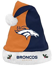 Denver Broncos Knit Sweater Santa Hat
