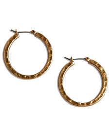 Lucky Brand Earrings, Small Round Hoop