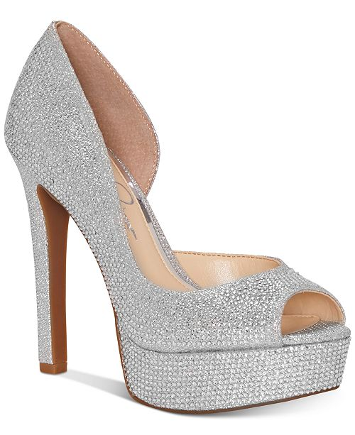d2b44152290 Jessica Simpson Martella d Orsay Peep-Toe Platform Pumps   Reviews ...