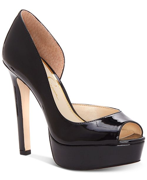 cf20ccf7ef6 Jessica Simpson Martella Peep-Toe Platform Pumps   Reviews - Pumps ...